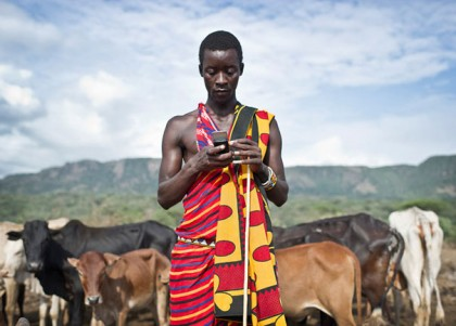 Maasai cow farmer
